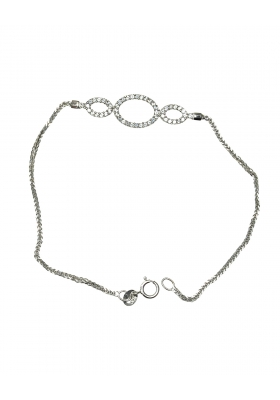 14ct White Gold Bracelet with Zircon