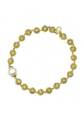 Βραχιόλι 14 Καράτια Χρυσό με μαργαριτάρι