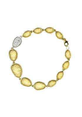 Βραχιόλι 14 Καράτια Χρυσό με Ζιργκόν