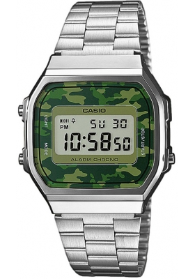Casio ρολόι Collection Digital Stainless Steel Bracelet A-168WEC-3EF