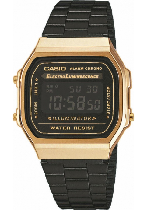 CASIO Vintage Iconic Chronograph Black Stainless Steel Bracelet