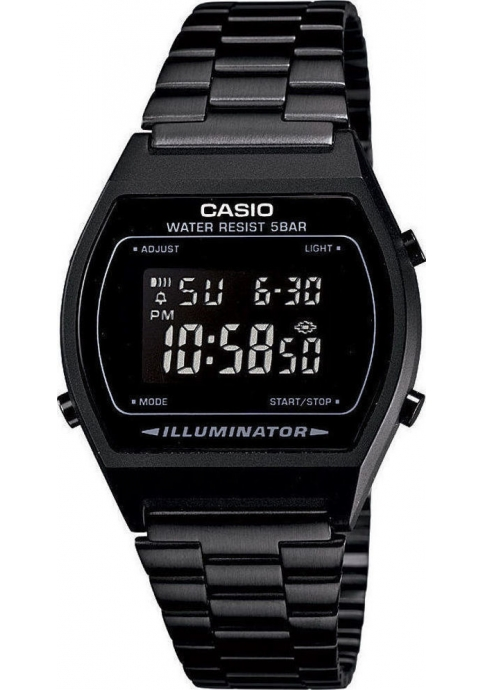 CASIO Collection Black Stainless Steel Bracelet B-640WB-1B