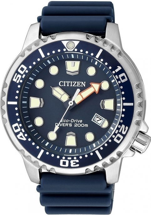 CITIZEN EcoDrive Divers Blue Rubber Strap
