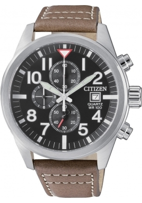 CITIZEN Brown Leather Chronograph AN3620-01H