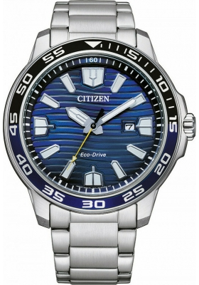 CITIZEN Eco-Drive AW1525-81L Silver Stainless Steel Bracelet