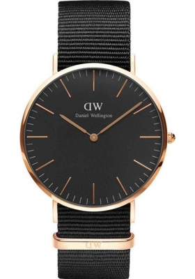 Daniel Wellington Classic Black Cornwall 40mm Rose Gold DW00100148
