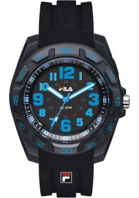 FILA Black Rubber Strap 38-091-002