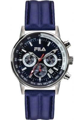FILA Blue Leather Chronograph 38-113-001