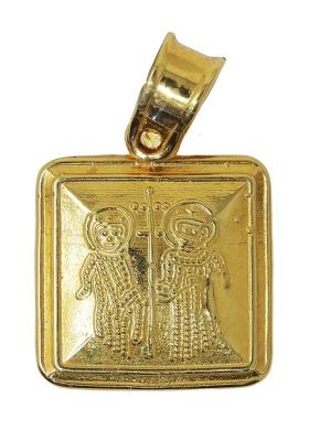 Κρεμαστό Φυλαχτό Κωνσταντινάτο από Χρυσό Κ9