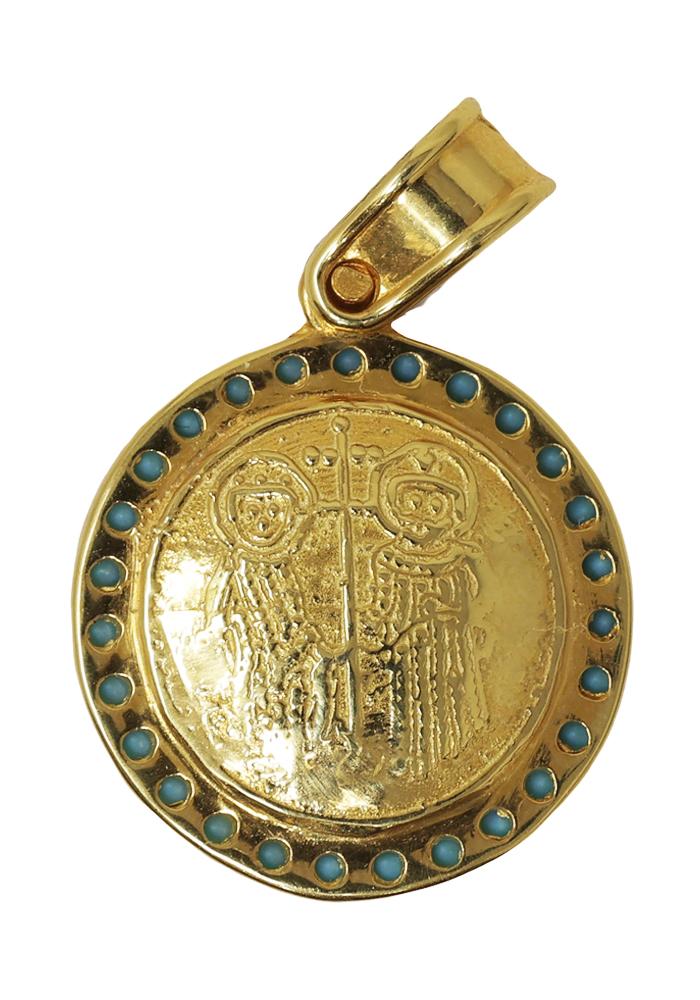 Κρεμαστό Φυλαχτό Κωνσταντινάτο από Χρυσό Κ14