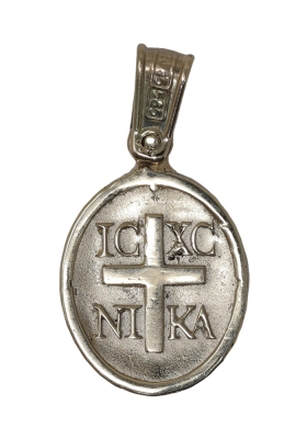Κρεμαστό Φυλαχτό Χριστός από Χρυσό και Λευκόχρυσο Κ14