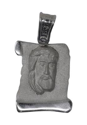 Κρεμαστό Φυλαχτό Χριστός από Λευκόχρυσο Κ14