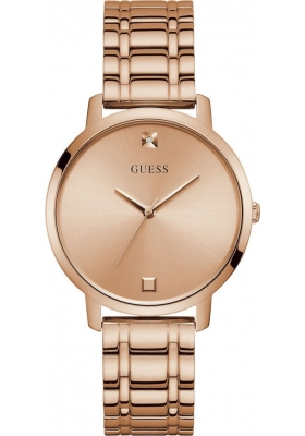 Guess Crystals Ladies Rose Gold Stainless Steel Bracelet W1313L3