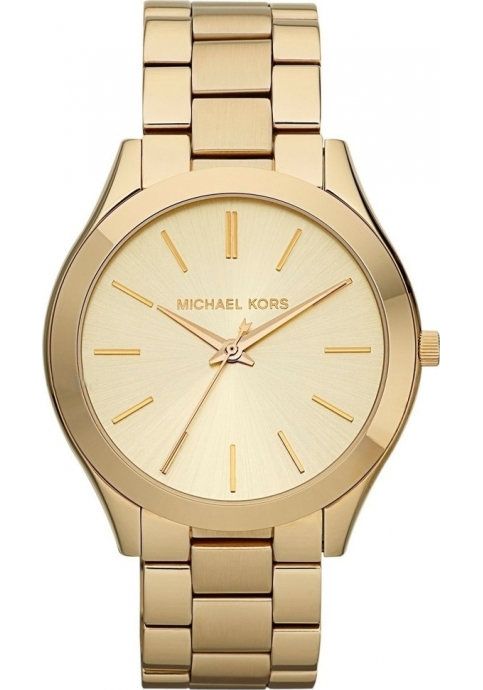 Michael Kors Runway Gold Stainless Steel Bracelet Ladies Watch