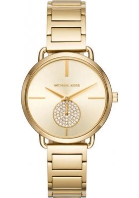 Michael Kors Portia Crystals Gold Stainless Steel Bracelet MK3639