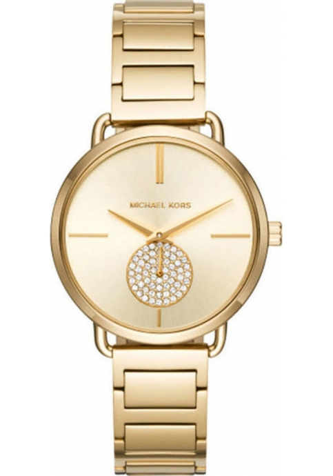 Michael Kors Portia Crystals Gold Stainless Steel Bracelet MK3639