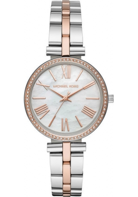 Michael KORS Maci Crystals Two Tone Stainless Steel Bracelet