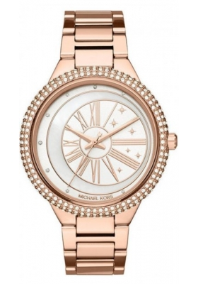 Michael KORS Taryn Crystals Rose Gold Stainless Steel Bracelet