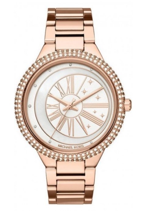 Michael KORS Taryn Crystals Rose Gold Stainless Steel Bracelet