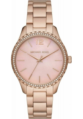 Michael Kors MK6848 Layton Crystals Rose Gold Stainless Steel Bracelet
