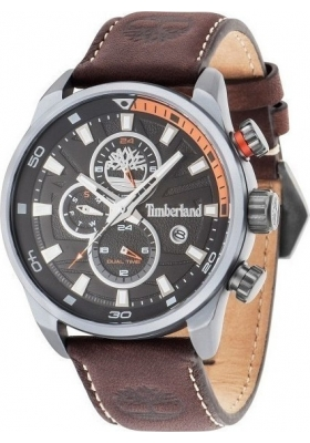 Timberland Henniker II Multifunction Brown Leather Strap