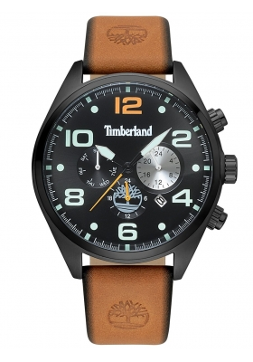 TIMBERLAND Whitman Multifunction Brown Leather Strap 15477JSB-02