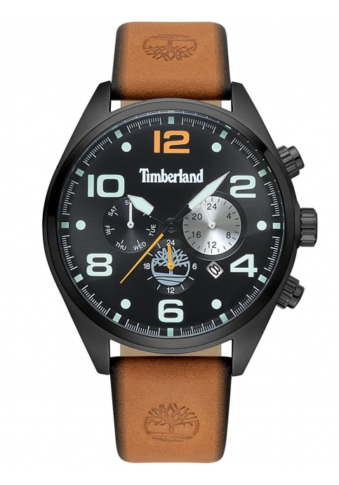 TIMBERLAND Whitman Multifunction Brown Leather Strap 15477JSB-02