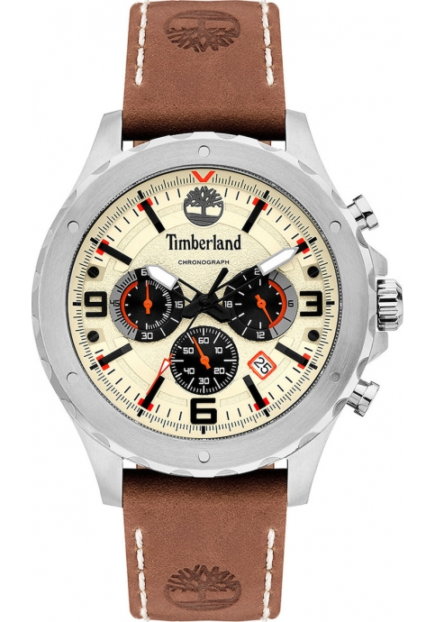 Timberland 15634JS-07 GREEENSBORO Brown Leather Strap