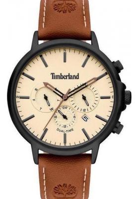 TIMBERLAND Langdon Dual Time Brown Leather Strap 15651JYB.01