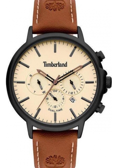 TIMBERLAND Langdon Dual Time Brown Leather Strap 15651JYB.01