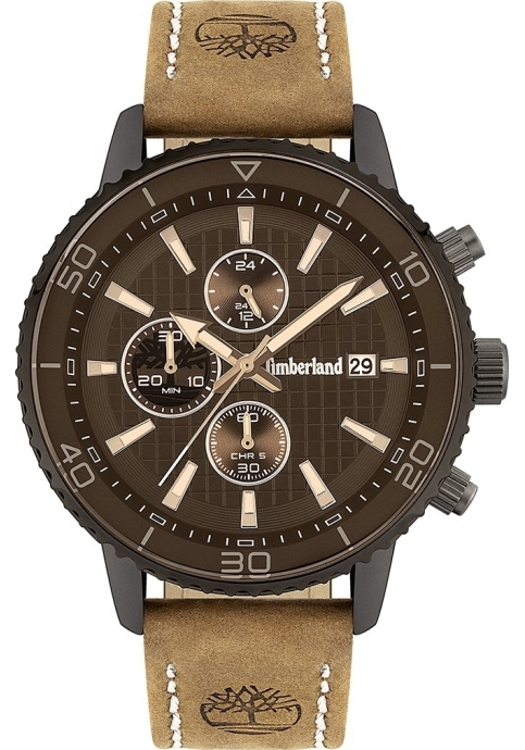 Timberland Woodworth Brown Leather Strap 15952JYU02