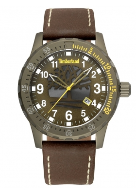 TIMBERLAND Clarksburg Brown Leather Strap 15473JLK-53