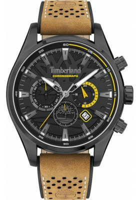 TIMBERLAND Aldridge TDWGC2102401 Chrono Brown Leather Strap