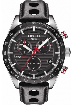 Tissot PRS 516 Quartz Mens Chrono Black Leather Strap T100.417.16.051.00