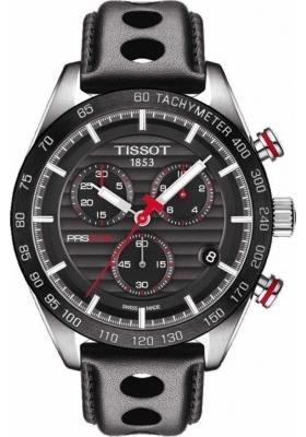 Tissot PRS 516 Quartz Mens Chrono Black Leather Strap T100.417.16.051.00
