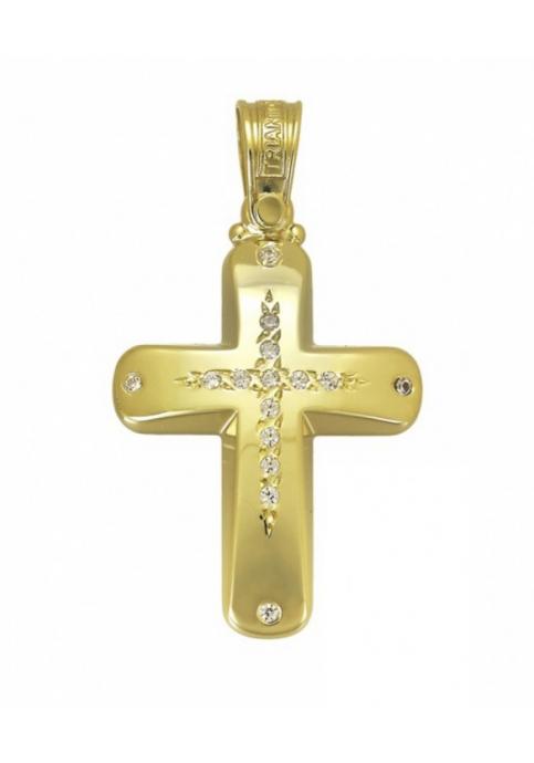 Σταυρός 14 Καράτια  Χρυσό ΤΡΙΑΝΤΟΣ Γυναικείος