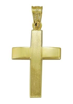 Σταυρός 14 Καράτια Χρυσός ΤΡΙΑΝΤΟΣ