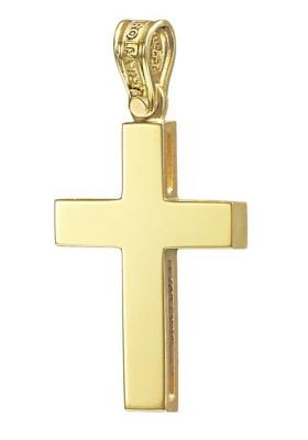 Σταυρός 14 Καράτια Χρυσός ΤΡΙΑΝΤΟΣ Ανδρικός
