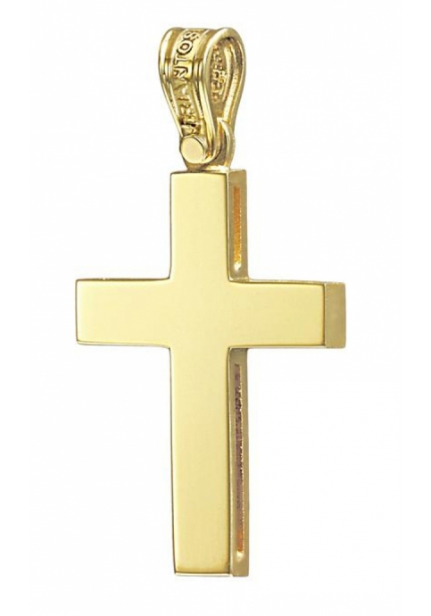 Σταυρός 14Κ Χρυσός ΤΡΙΑΝΤΟΣ Ανδρικός
