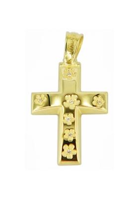 Σταυρός 14 Καράτια Χρυσός ΤΡΙΑΝΤΟΣ Γυναικείος