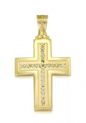 Σταυρός 14Κ Xρυσο ΤΡΙΑΝΤΟΣ Γυναικείος