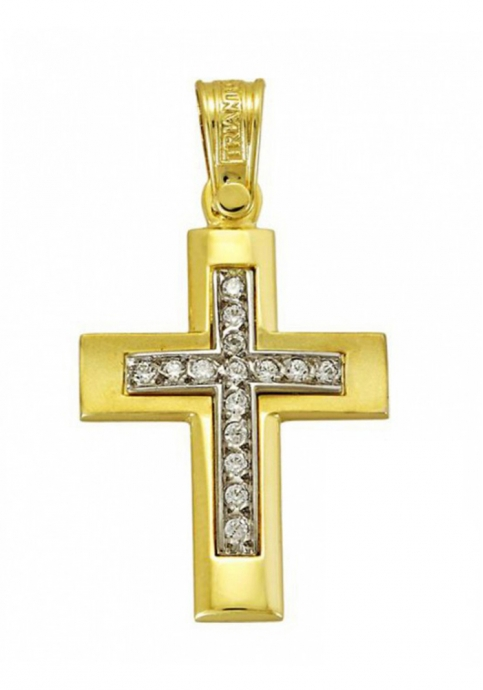 Σταυρός 14 Καράτια Xρυσο και Λευκόχρυσο ΤΡΙΑΝΤΟΣ