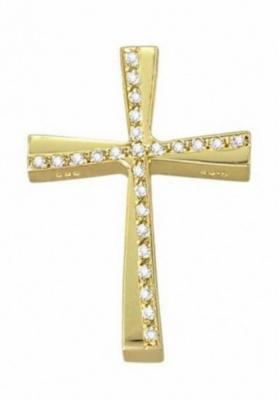 Σταυρός 14 Καράτια Xρυσο ΤΡΙΑΝΤΟΣ με πέτρες ζιργκόν