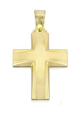 Σταυρός 14 Καράτια Xρυσο ΤΡΙΑΝΤΟΣ Ανδρικός