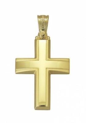 Σταυρός 14Κ Xρυσο ΤΡΙΑΝΤΟΣ Ανδρικός