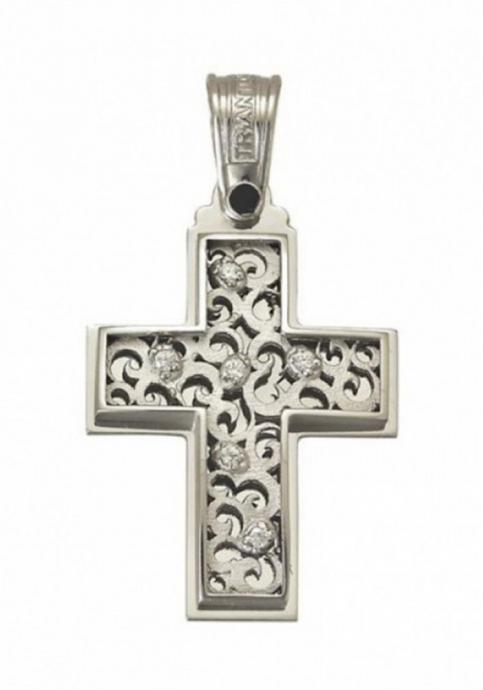Σταυρός 14Κ Λευκόχρυσο ΤΡΙΑΝΤΟΣ Γυναικείος
