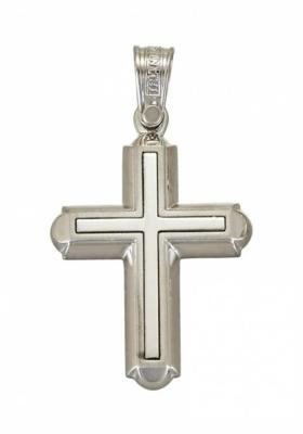 Σταυρός 14 Καράτια Λευκόχρυσος ΤΡΙΑΝΤΟΣ