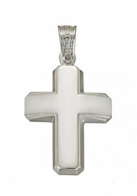 Σταυρός 14 Καράτια Λευκόσχυρος ΤΡΙΑΝΤΟΣ