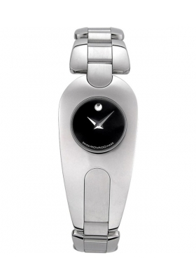 Movado Women's Timema Stainless Steel Black Dial