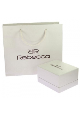 REBECCA Half Moon Time White Rubber Strap